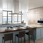 Short on Square Footage for Your Kitchen Area? The Oceanside Collection by Wood-Mode Cabinetry Combines Beauty and Efficiency…