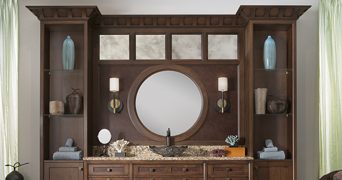 Wood mode brookhaven image gallery w stephens for Bathroom remodel 41017