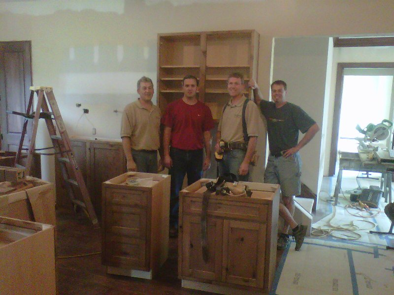 The Ossege Brothers Install Cabinets at Noll Builders' Wintersheimer Home Project