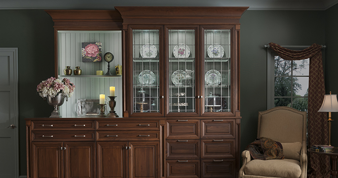Design Inspiration: Wood Mode's Toulon Butler's Pantry Provides Some New Twists On an Old Classic!