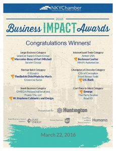 2016 NKY Chamber Business Impact Award Winners